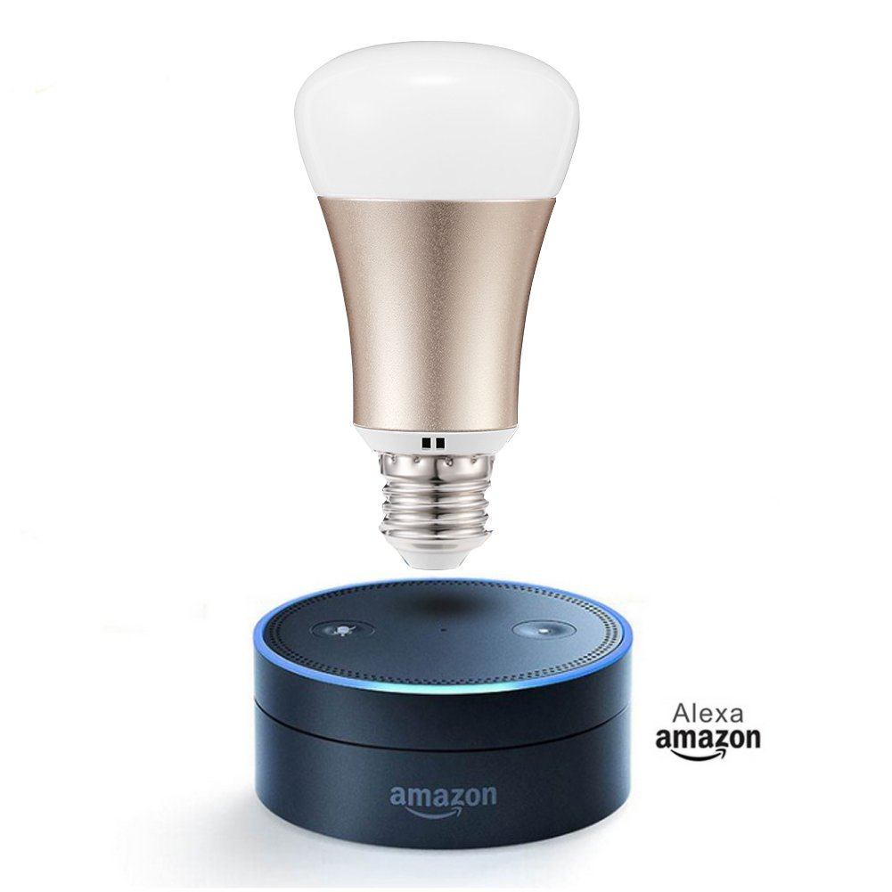 Expower Smart WiFi Light, Dimmable 5W RGB Led Bulb E27 Works with Amazon Alexa Echo Remote Control by Smartphone IOS & Android, 60 W Equivalent